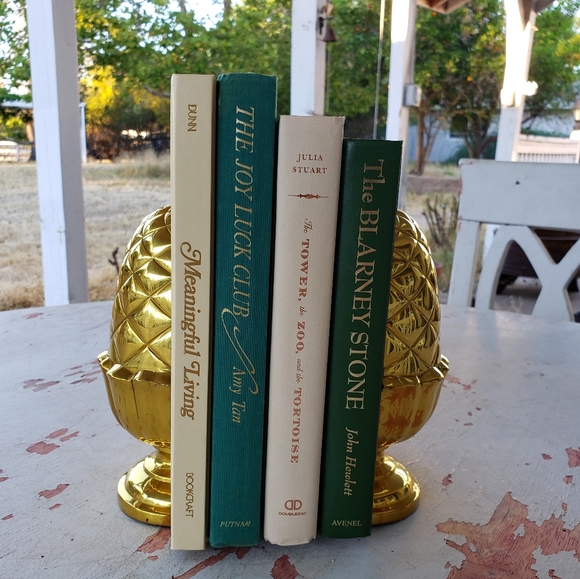 Vintage Other - Vintage mid century modern brass colored bookends